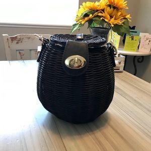 Black Free People Wicker Basket purse